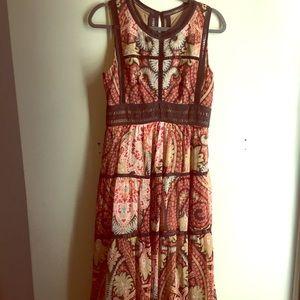 Anthropologie Bohemian Maxi Dress